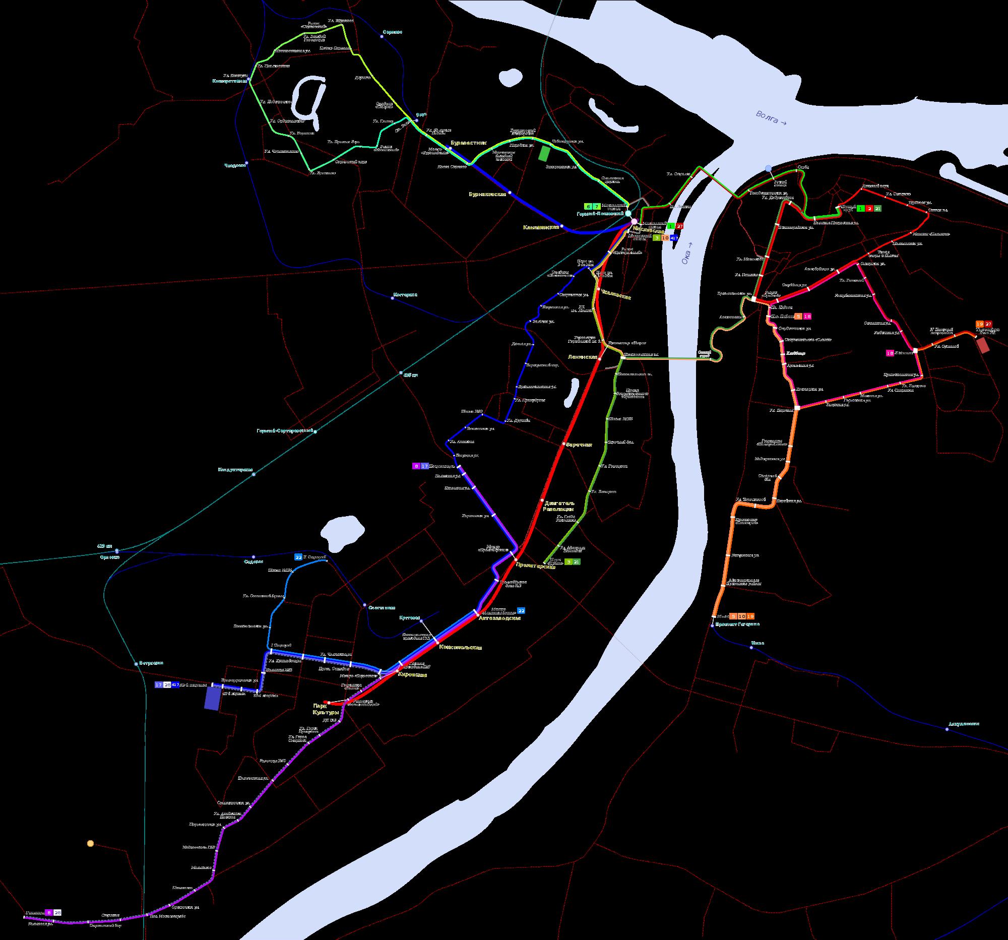 схема движения троллейбуов саранск